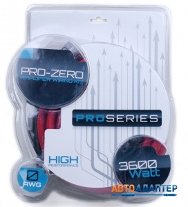 Connects2 PRO-ZERO набор проводов для подключения усилителя/сабвуфера 0AWG